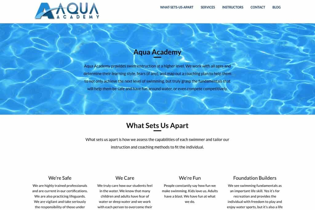 Aqua Academy Website