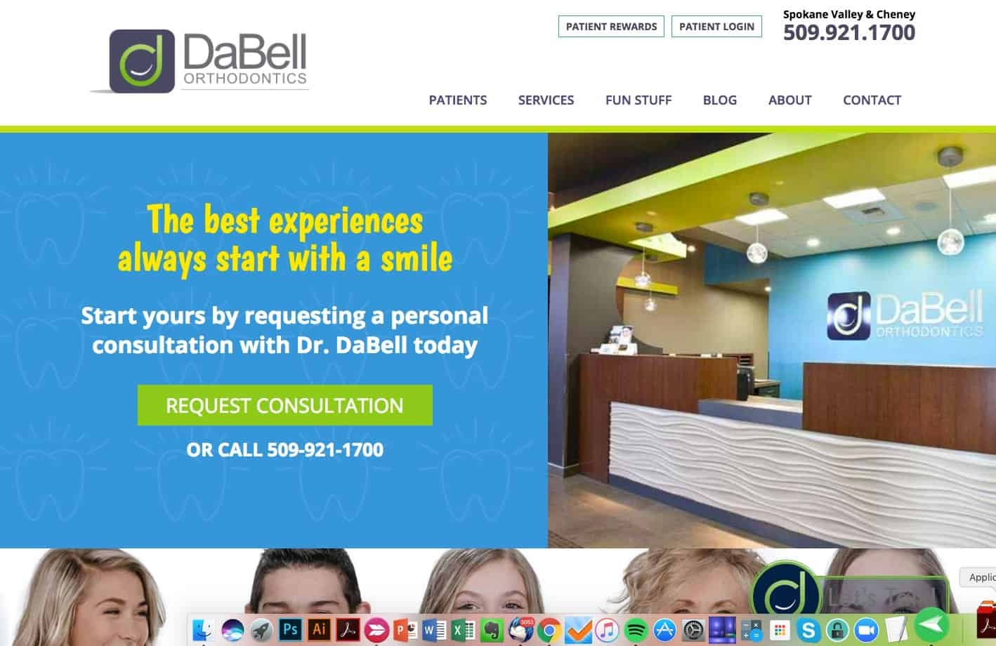 DaBell Orthodontics Website Sample