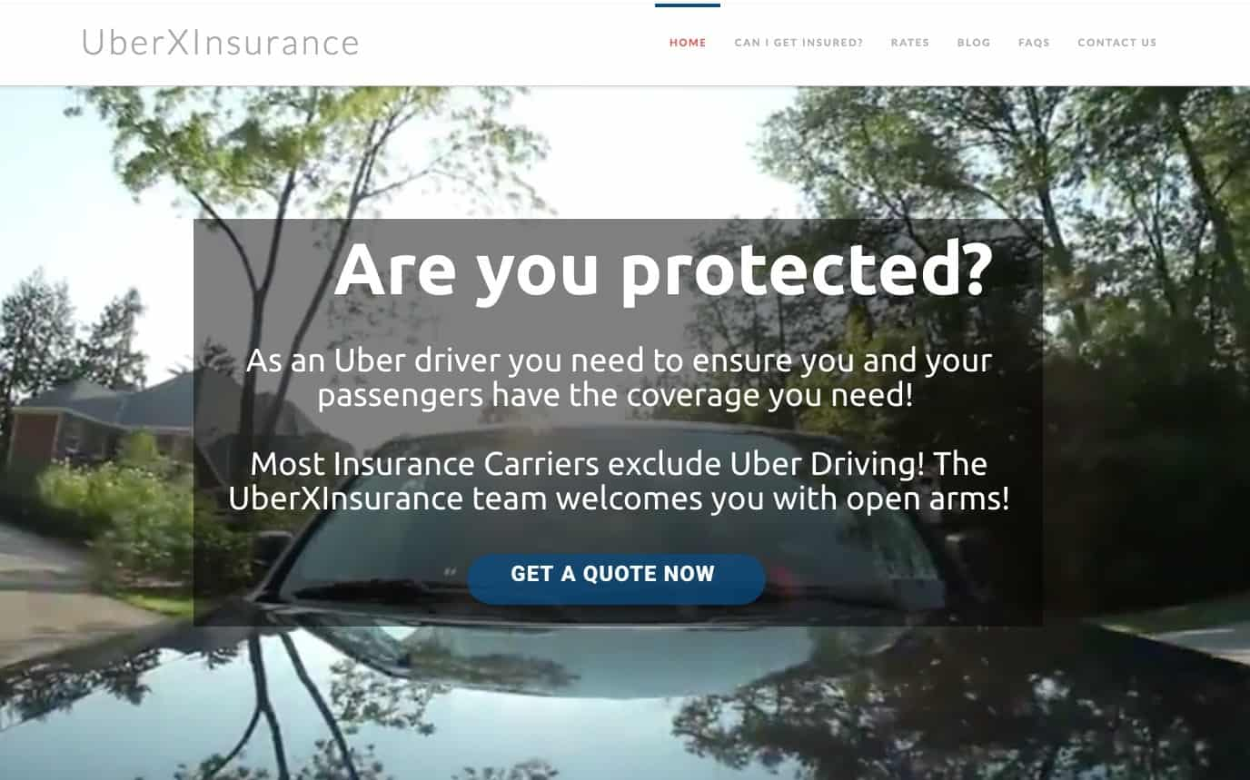 UberX Insurance Website