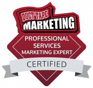 Duct Tape Marketing Professional Services Marketing Expert Badge